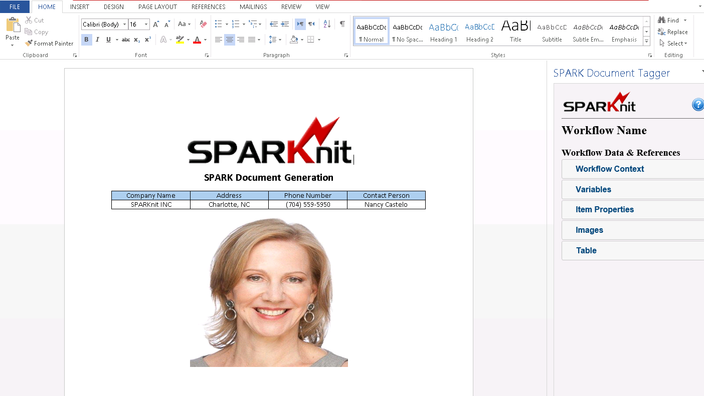SPARK Document Generation